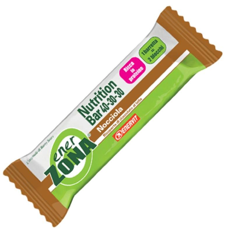 ENERZONA NUTRITION BAR 40-30-30 nocciola 30 pz