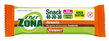 ENERZONA SNACK 40-30-30 barrette arancia 1 pz