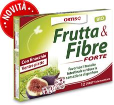 FRUTTA E FIBRE forte 12 cubetti masticabili