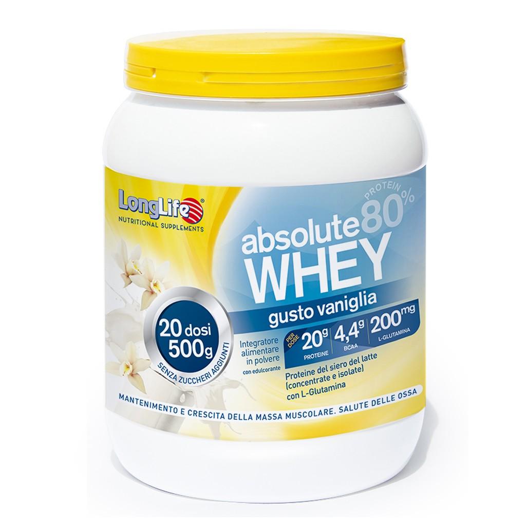 LONGLIFE ABSOLUTE WHEY VANIGLIA 500 g