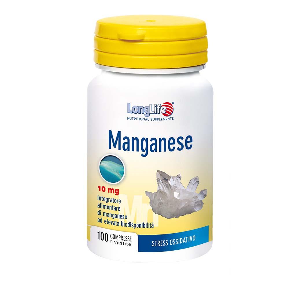 LONGLIFE MANGANESE 10MG 100CPR