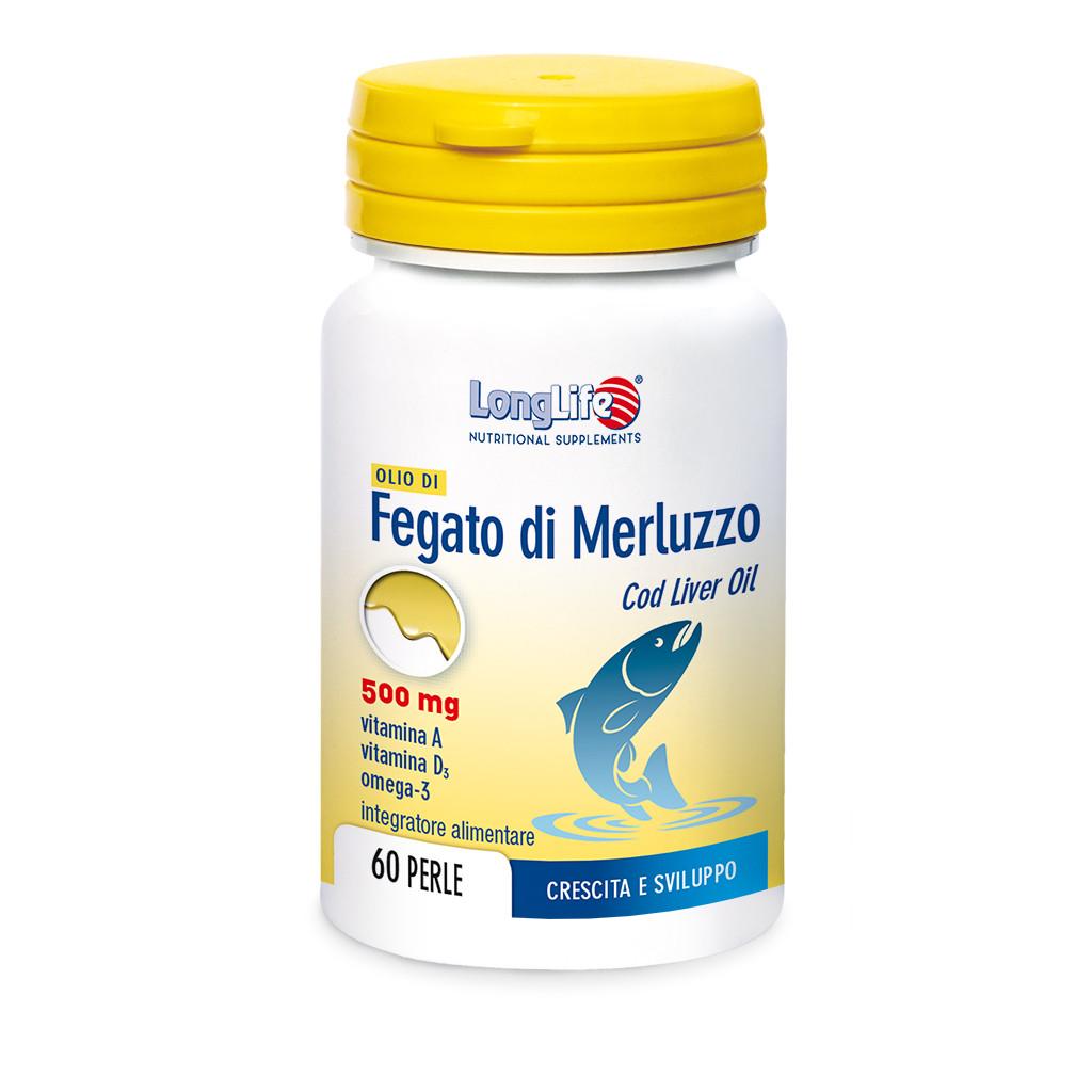 LONGLIFE OLIO DI FEGATO DI MERLUZZO 500MG 60PRL