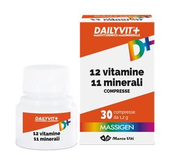 MASSIGEN DAILYVIT+ 12 VITAMINE 11 MINERALI 30cpr