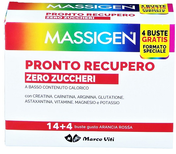 MASSIGEN PRONTO RECUPERO ZERO ZUCCHERI 18 Buste