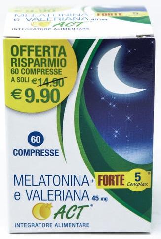 MELATONINA E VALERIANA ACT 60 compresse