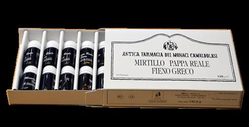 MIRTILLO PAPPA REALE FIENO GRECO MONACI CAMALDOLESI 12 fiale