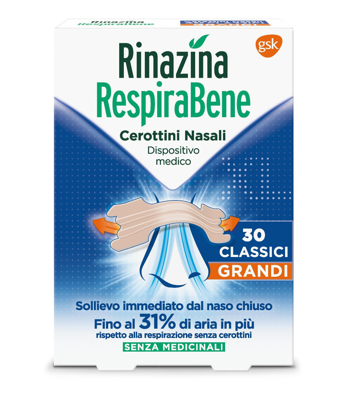 RINAZINA RESPIRABENE10 cerotti trasparenti