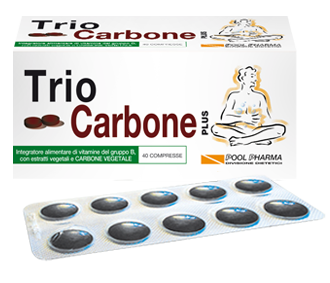TRIO CARBONE Plus Integratore anti-gonfiore  40 compresse