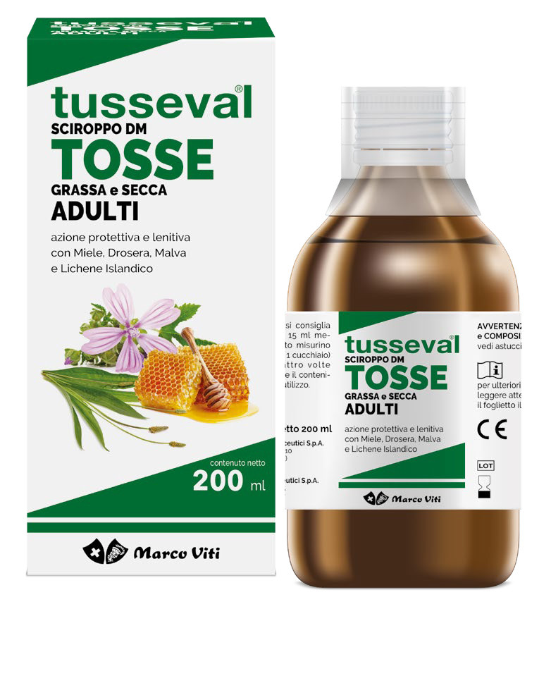 TUSSEVAL SCIROPPO TOSSE GRASSA e SECCA ADULTI 200ml