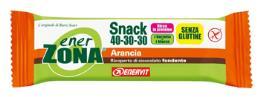ENERZONA SNACK 40-30-30 barrette gusto arancia 1 pz